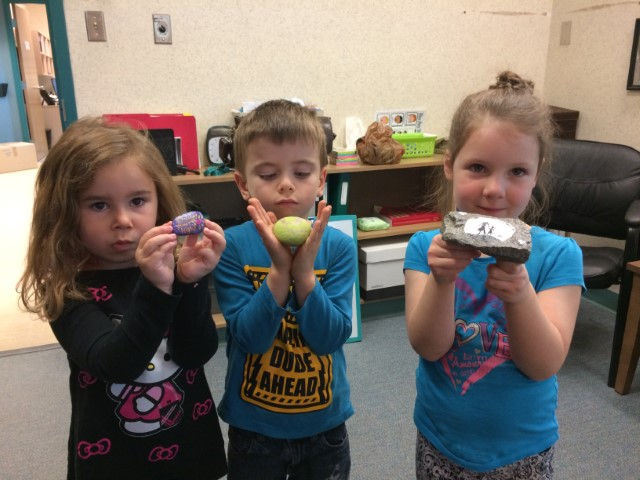 Mme. Cassan's Students with Their Kindness Rocks!